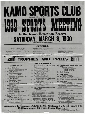 Whangarei_Kamo_Sports_Club-poster_1930